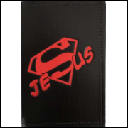 Carteira Porta Documento - Jesus Super Men